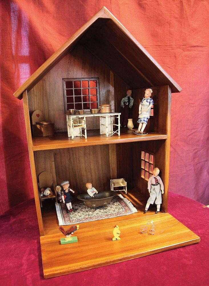 【送料無料】ジャービス商事 天然木無垢材 ドールハウス 本体のみ 36385 木製【代引不可】