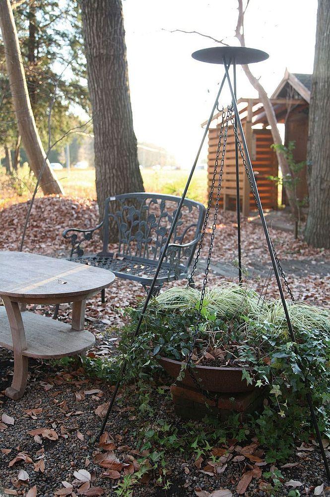 ジャービス商事 ガーデン用 調理器具 アイアンファイヤーパン用スタンド(パン本体なし・アミなし) スタンドのみ 36475