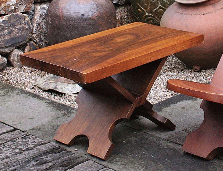 【送料無料】ジャービス商事 天然木無垢材 アフリカンテーブル 70074 テーブルのみ 木製【代引不可】