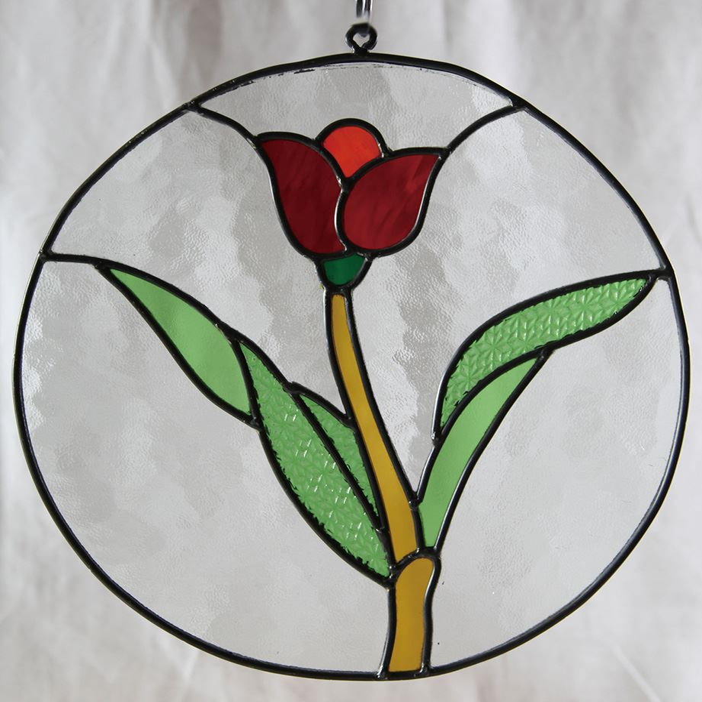 ジャービス商事 ステンドグラス チューリップ丸 87054【代引不可】【北海道・沖縄・離島配送不可】