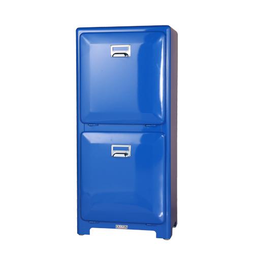 ダルトン トラッシュカン ダブルデッカー ゴミ箱 TRASH CAN DOUBLE DECKER BLUE 100-133BL【代引不可】【北海道・沖縄・離島配送不可】