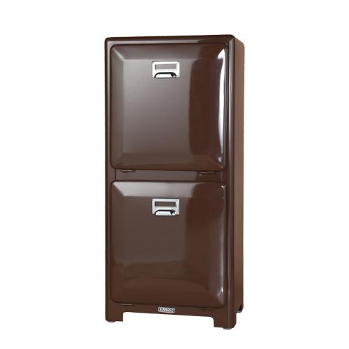 ダルトン トラッシュカン ダブルデッカー ゴミ箱 TRASH CAN DOUBLE DECKER BROWN 100-133BR【代引不可】【北海道・沖縄・離島配送不可】