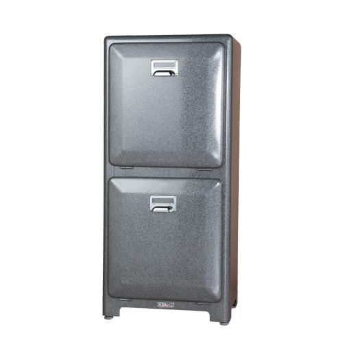 【送料無料】ダルトン トラッシュカン ダブルデッカー ゴミ箱 TRASH CAN DOUBLE DECKER GRAY 100-133GY【代引不可】