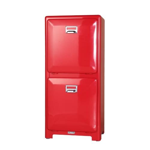 ダルトン トラッシュカン ダブルデッカー ゴミ箱 TRASH CAN DOUBLE DECKER RED 100-133RD【代引不可】【北海道・沖縄・離島配送不可】