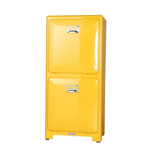 【送料無料】ダルトン トラッシュカン ダブルデッカー ゴミ箱 TRASH CAN DOUBLE DECKER YELLOW 100-133YL【代引不可】