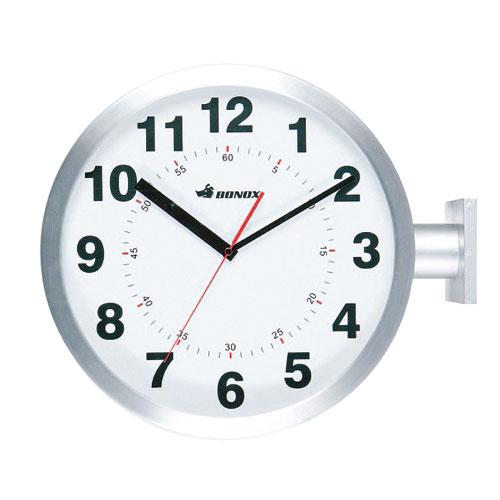 【送料無料】ダルトン ダブルフェイス ウォールクロック DOUBLE FACES WALL CLOCK SILVER S82429SV【代引不可】