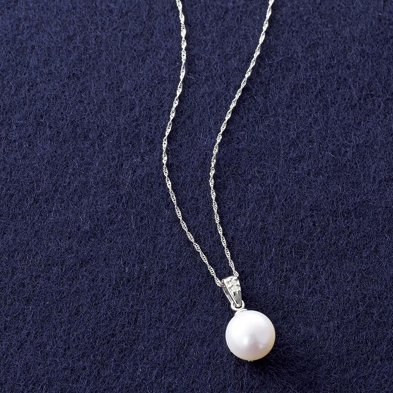 【送料無料】【ギフト】プラチナ あこや真珠&ダイヤモンドペンダント S8067【代引不可】