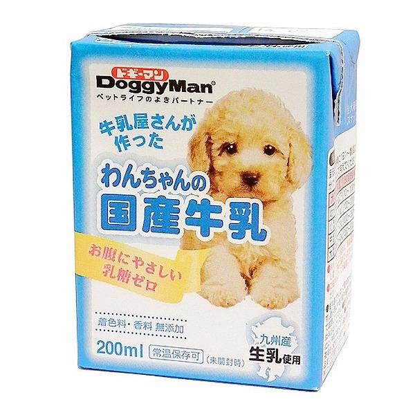 ドギーマン わんちゃんの国産牛乳 全犬種用 200ml【代引不可】