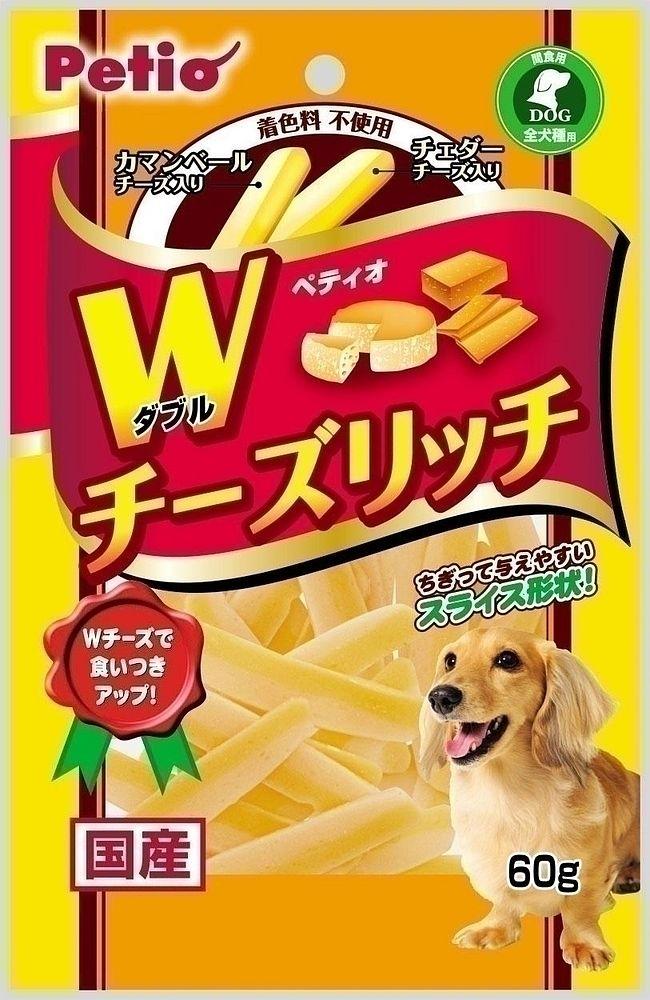 (まとめ買い)ペティオ ダブルチーズリッチ 60g 犬用 〔×15〕【代引不可】