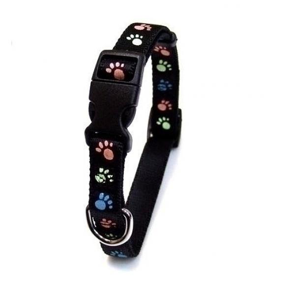 岡野製作所 犬用首輪 蓄光フットカラー #10 超小型犬用 ブラック【代引不可】