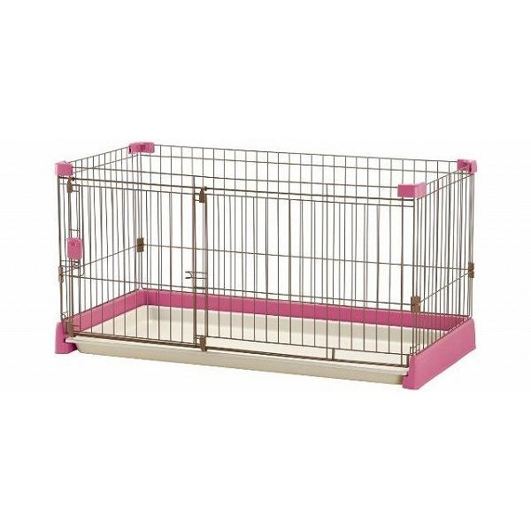 【送料無料】リッチェル ペット用 お掃除簡単サークル 120-60 超小型犬・小型犬用 ピンク【代引不可】