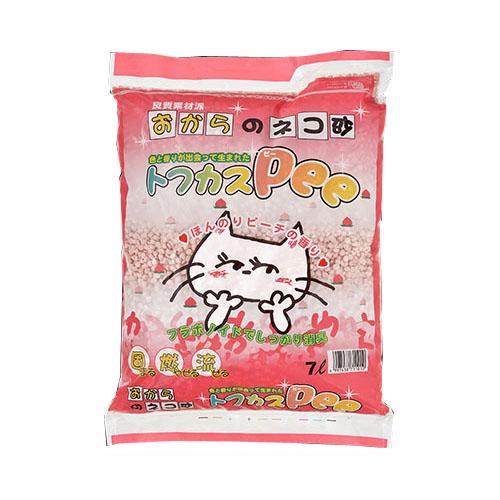 ペグテック おからの猫砂 トフカスPee 7L【代引不可】