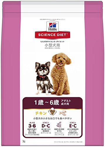 (まとめ買い)サイエンスダイエット アダルト 小型犬用 成犬用 3kg ドッグフード 〔×3〕【代引不可】【北海道・沖縄・離島配送不可】