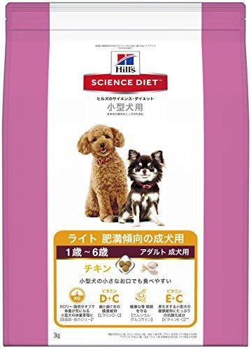 (まとめ買い)サイエンスダイエット ライト 小型犬用 肥満傾向の成犬用 3kg ドッグフード 〔×3〕【代引不可】【北海道・沖縄・離島配送不可】