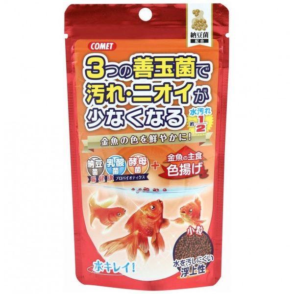 (まとめ買い)イトスイ 金魚の主食 納豆菌 色揚げ 小粒 90g 〔×10〕【代引不可】