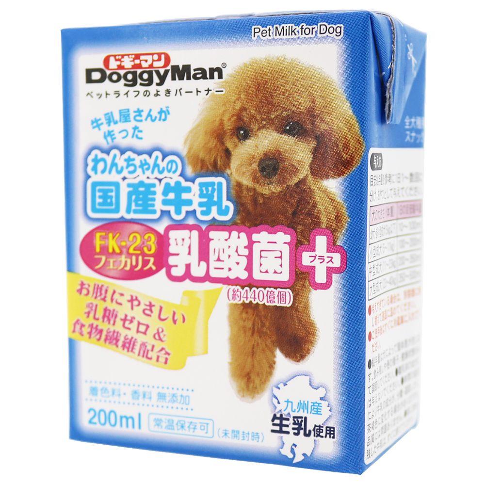 (まとめ買い)ドギーマン わんちゃんの国産牛乳 乳酸菌プラス 200ml 犬用 〔×12〕【代引不可】