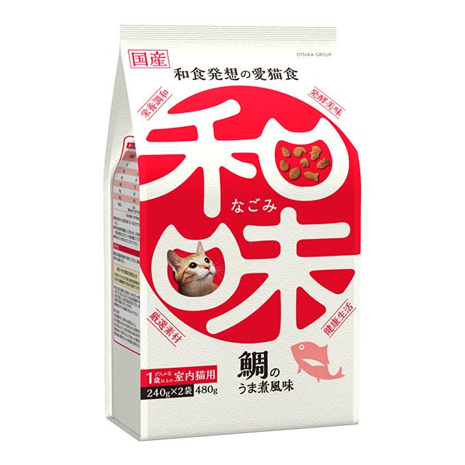 (まとめ買い)アース・ペット 和味 鯛のうま煮風味 1歳以上のグルメな室内猫用 480g(240g×2袋) 〔×6〕【代引不可】