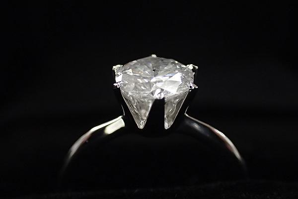 プラチナPt900 1.0ct一粒ダイヤリング 指輪 (鑑別書付き)  7号【代引不可】