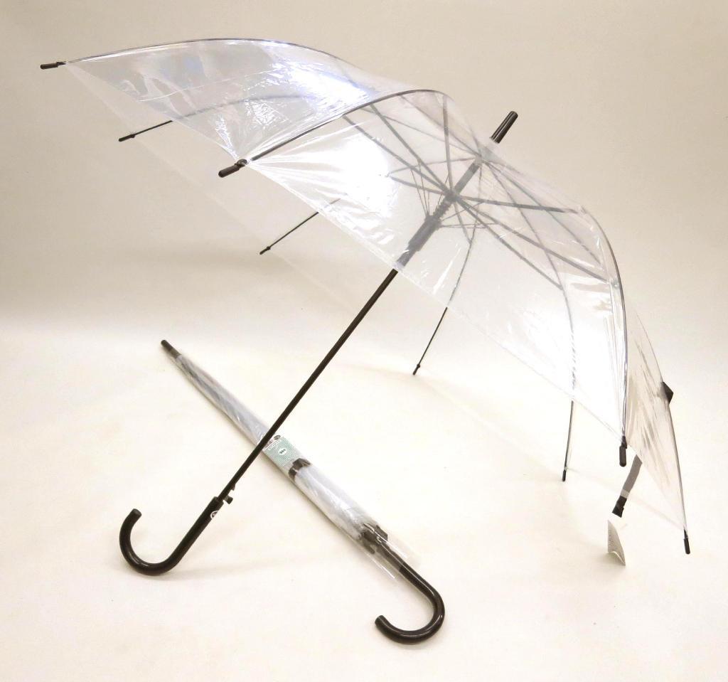 63cm ビニールジャンプ傘 (透明) 〔まとめ買い60本セット〕 #406 【代引不可】【北海道・沖縄・離島配送不可】