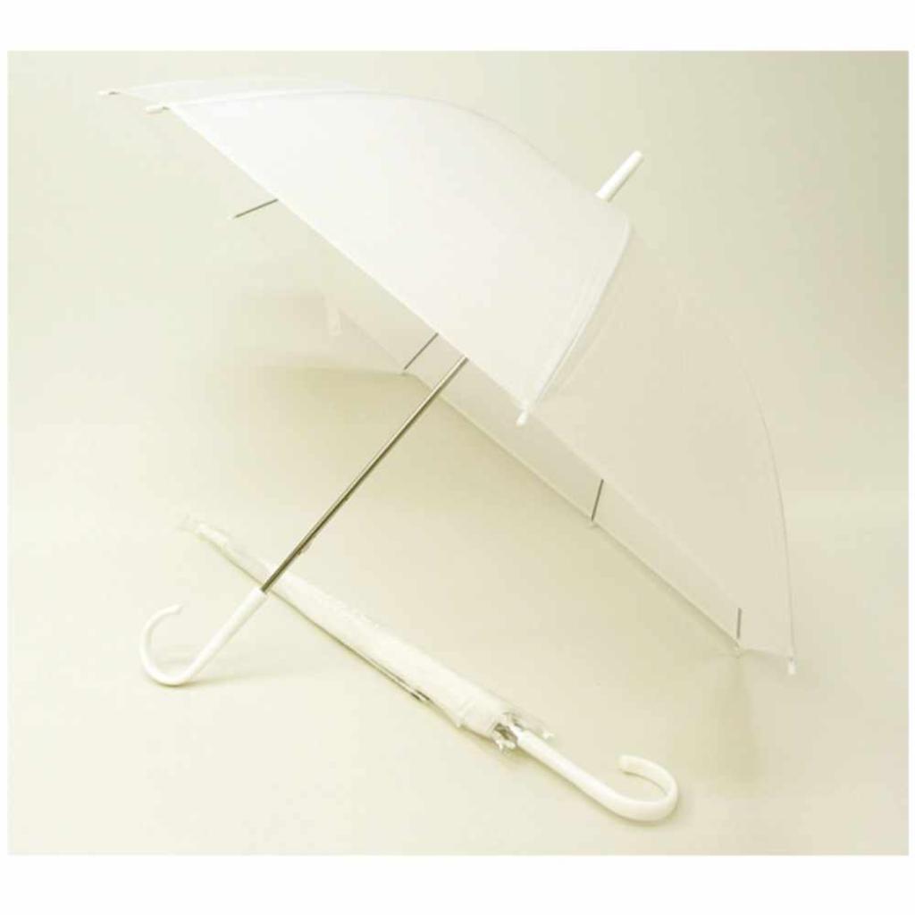 【送料無料】50cm エコロジービニール傘 (ホワイト) 〔まとめ買い60本セット〕 #505 【代引不可】