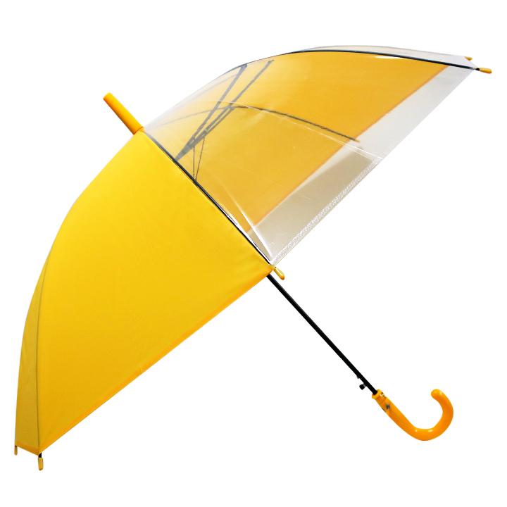 【送料無料】55cm学童ジャンプ傘 窓付き (黄) 〔まとめ買い60本セット〕 #532MA 【代引不可】