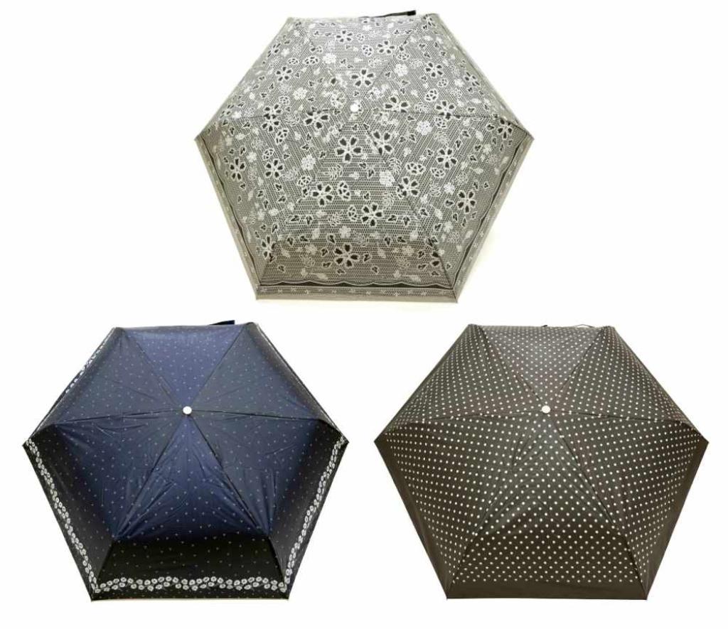 【送料無料】53cm 晴雨兼用折たたみ傘 (3柄アソート) 〔まとめ買い60本セット〕 #674 【代引不可】