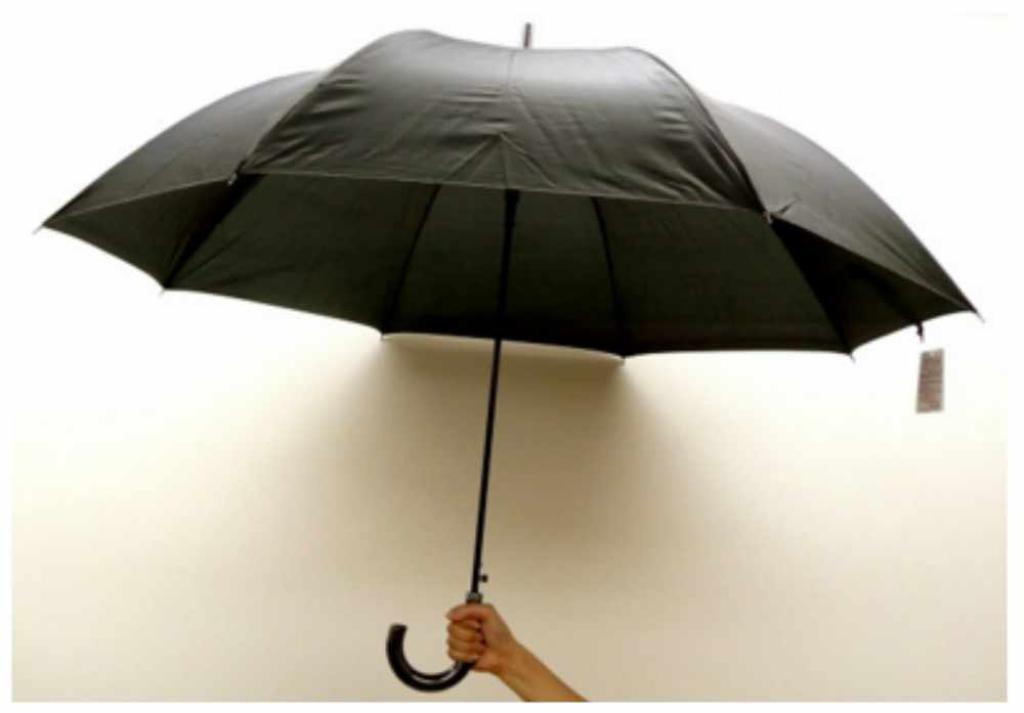70cm 大判グラスファイバー傘 (黒) 〔まとめ買い48本セット〕 #550BK 【代引不可】【北海道・沖縄・離島配送不可】