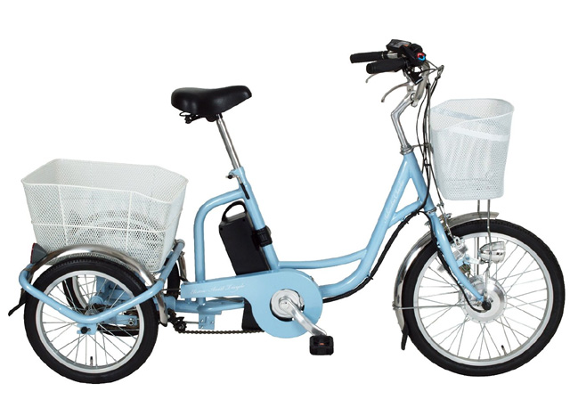 【送料無料】ミムゴ(MIMUGO) アシらくチャーリー 電動アシスト三輪自転車 MG-TRM20EB ライトブルー【代引不可】