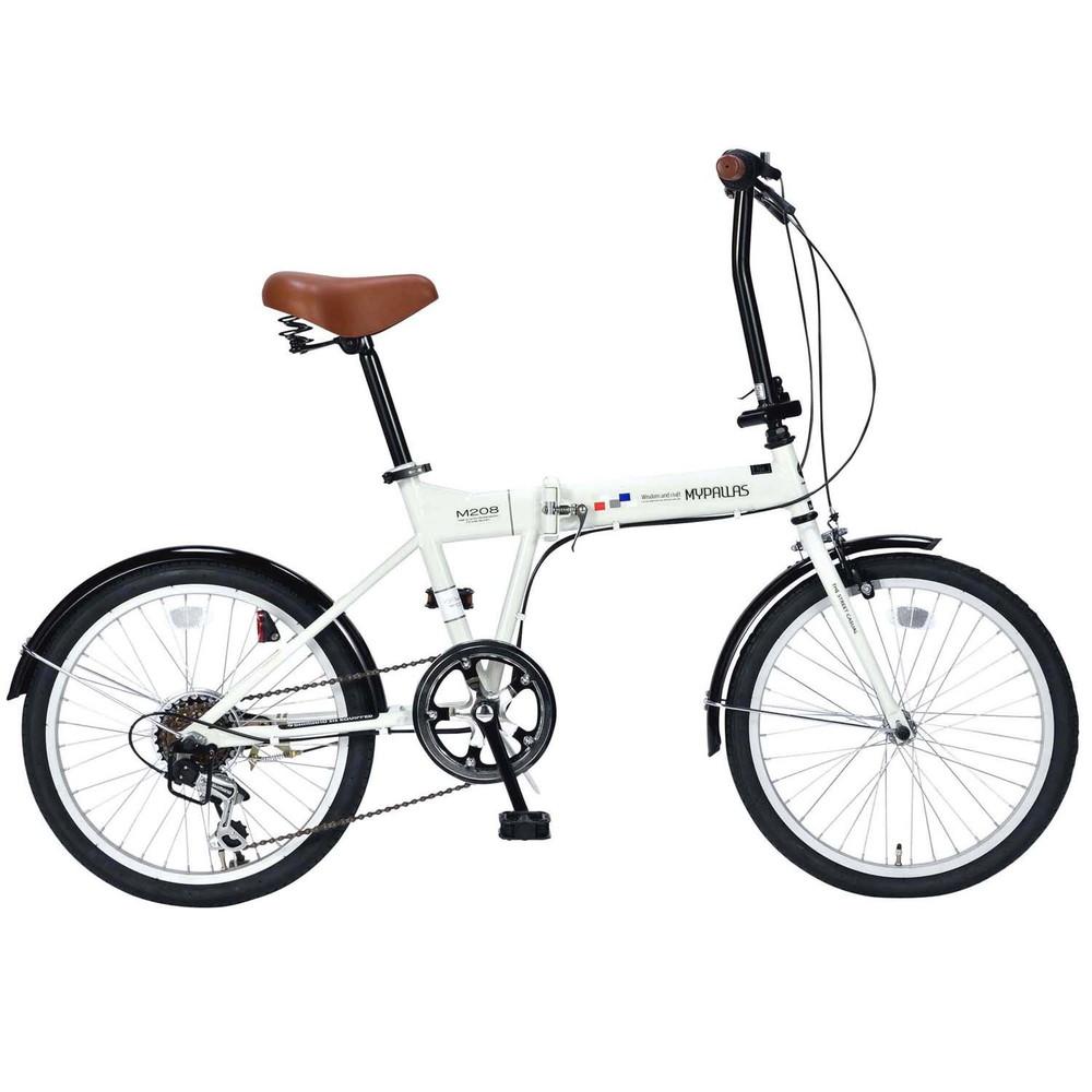 格安 【送料無料】My Pallas(マイパラス) 折り畳み自転車20インチ・シマノ6段変速ギア付き アイボリー M-208【代引不可】, 遠賀郡:a9a1ff72 --- clftranspo.dominiotemporario.com