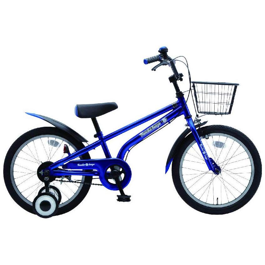 【送料無料】美和商事 18インチ 幼児車 子供用自転車 やんちゃ坊主18 サムライブルー カゴ・フェンダー付属 完成車 YB180BKND-RBU【代引不可】