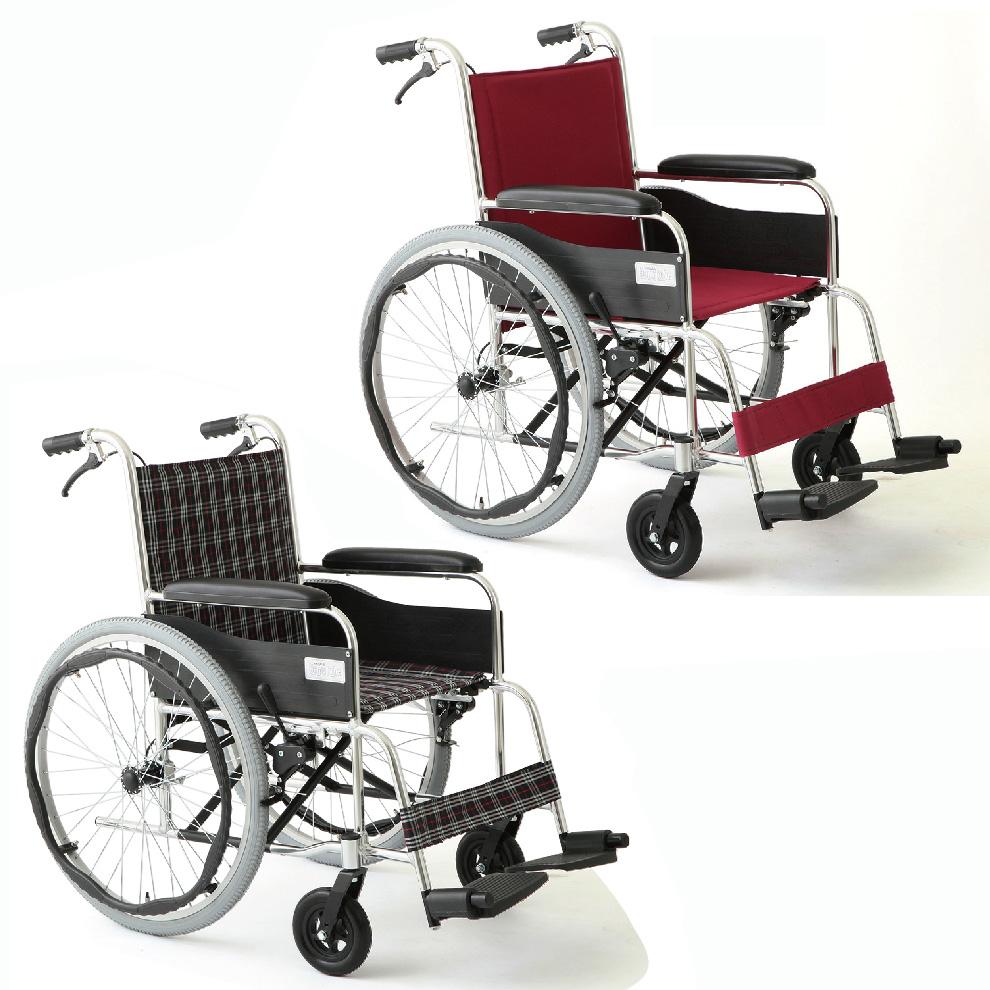 【送料無料】MIWA 自走・介助兼用車いす アリーズ MW-22AT アルミフレーム 車椅子 車イス【代引不可】