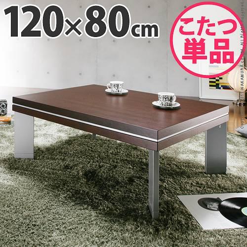 ウォールナットこたつ120×80cm こたつ テーブル 長方形 日本製 国産継ぎ脚ローテーブル【】