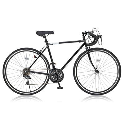 【送料無料】Grandir 700C×28C ロードバイク 21段変速 ブラック Sensitive 19250【代引不可】