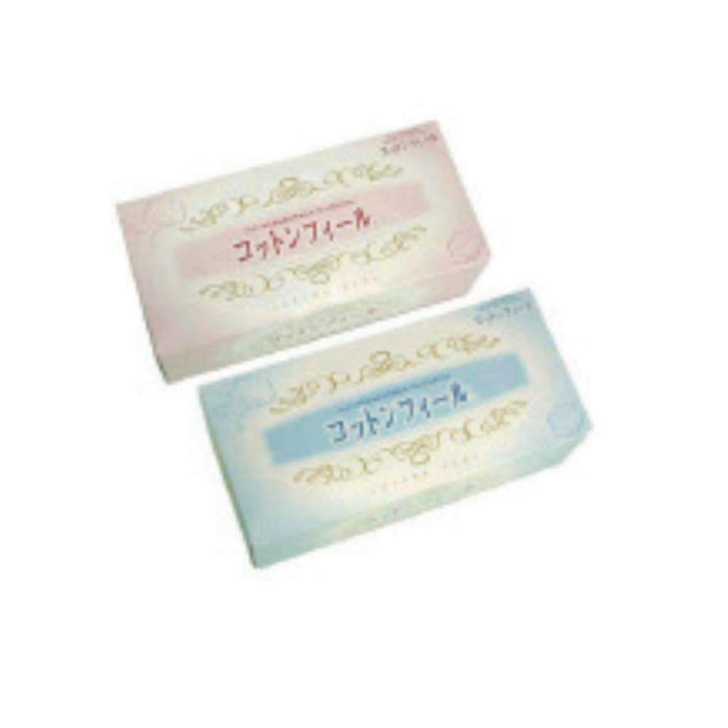 【送料無料】日本製 Japan コットンフィールBOXティッシュ〔まとめ買い150個セット〕 WN-650