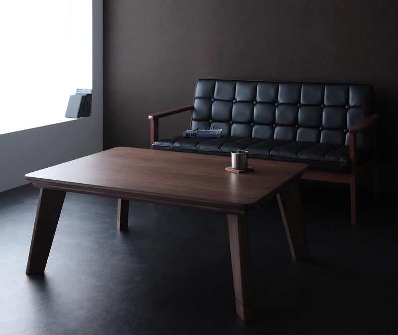 【送料無料】モダンデザインフラットヒーターこたつテーブル〔Valeri〕ヴァレーリ 長方形(105×75) ウォールナットブラウン【代引不可】