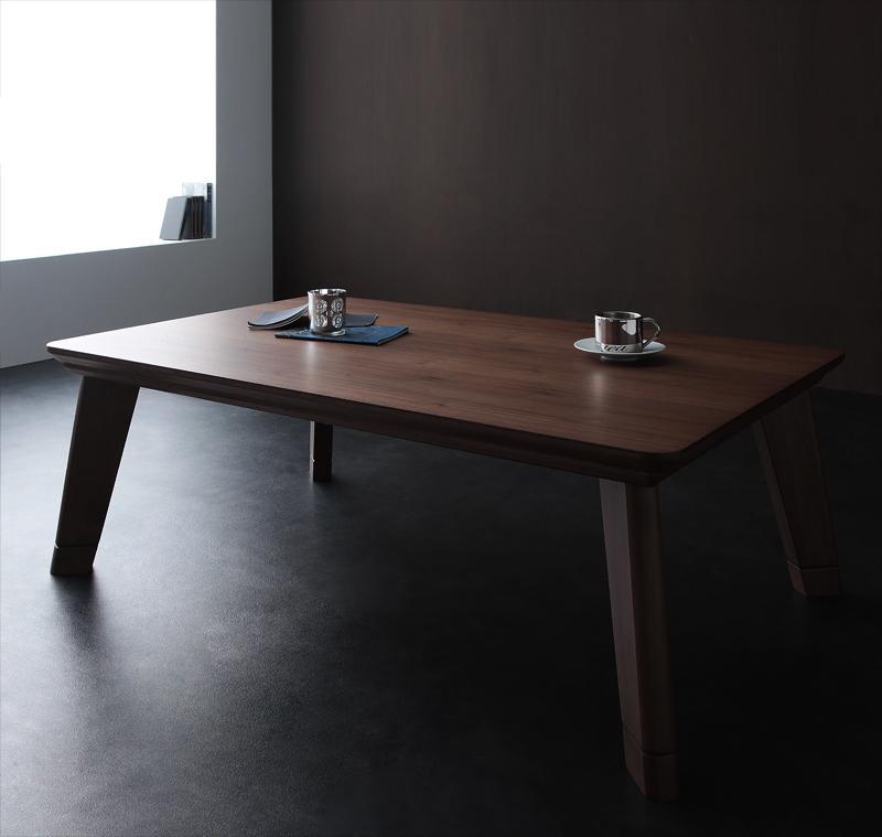 【送料無料】モダンデザインフラットヒーターこたつテーブル〔Valeri〕ヴァレーリ 長方形(120×80) ウォールナットブラウン【代引不可】