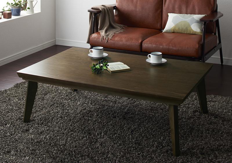 オールドウッド ヴィンテージデザインこたつテーブル〔WYTHE〕ワイス 長方形(120×80) ヴィンテージブラウン【代引不可】