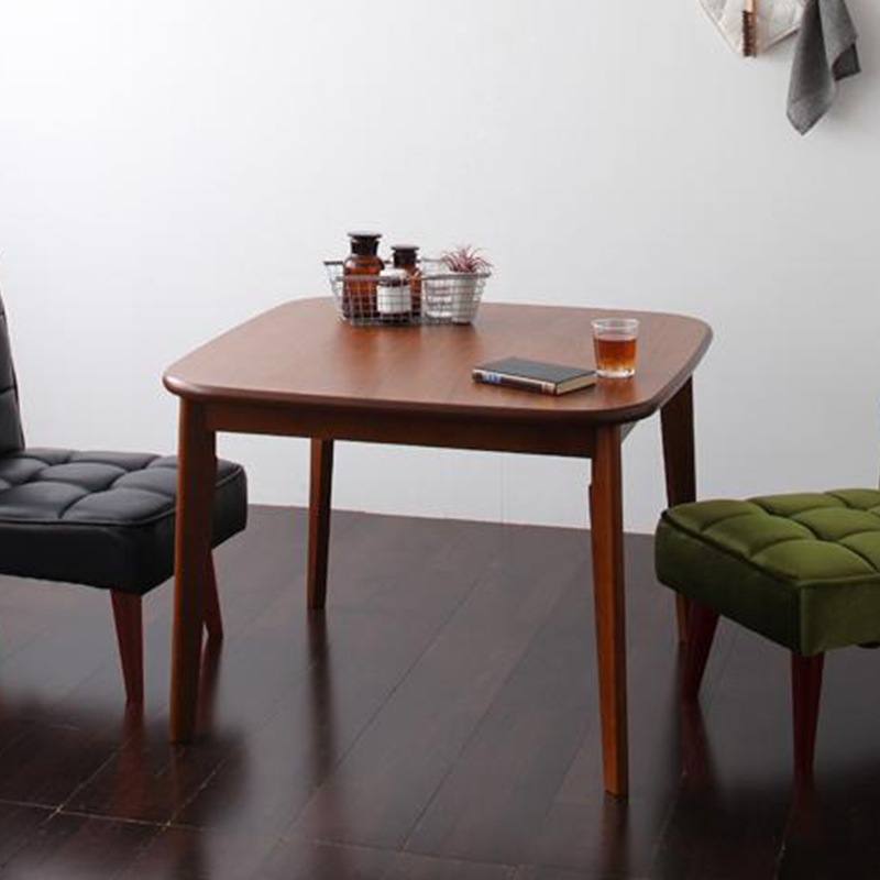 【送料無料】ソファ&ダイニングセット〔DARNEY〕ダーニー テーブル単品(W90cm) ウォールナット【代引不可】