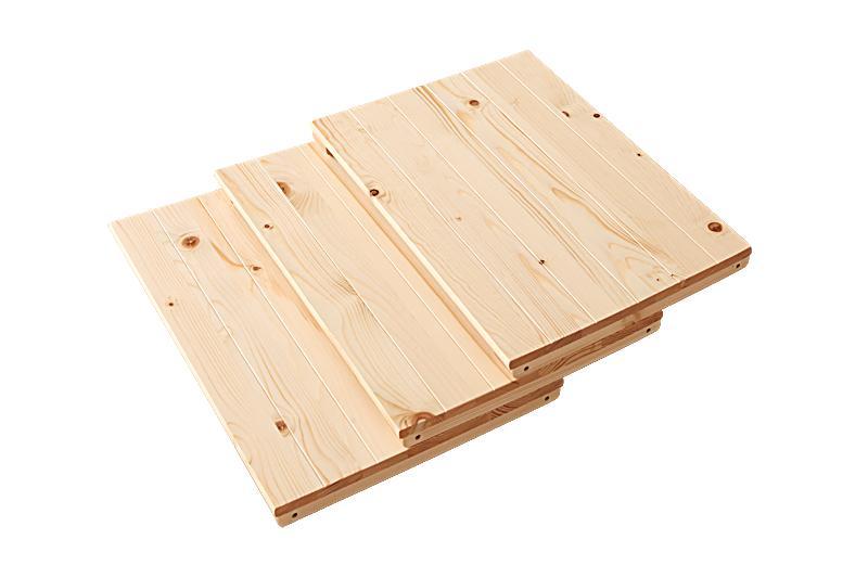 【送料無料】天然木シンプルデザインキッズ家具シリーズ〔Primaria〕プリマリア 連結棚3枚セット ブラウン【代引不可】