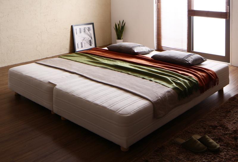 【送料無料】日本製ポケットコイルマットレスベッド〔MORE〕モア グランドタイプ 脚7cm キング【代引不可】