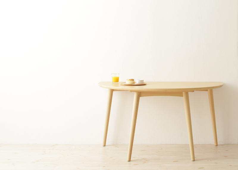 【送料無料】天然木半円テーブルダイニング〔Mond〕モント/テーブルのみ単品販売 ライトブラウン【代引不可】