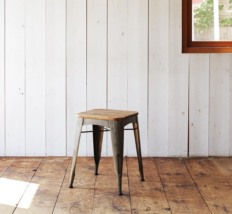 【送料無料】西海岸テイストヴィンテージデザインダイニング家具シリーズ〔Ricordo〕リコルド スツールのみ単品販売【代引不可】
