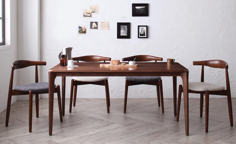 【送料無料】北欧デザイナーズダイニングシリーズ〔Spremate〕シュプリメイト 5点Aセット(テーブル+チェアA×4) チャコールグレー ダイニングセット テーブル・イスセット【代引不可】