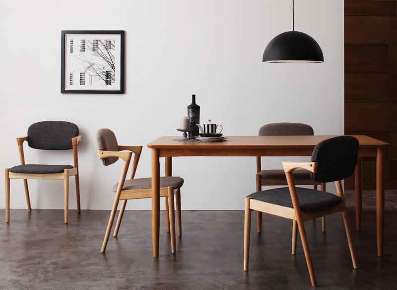 デザインダイニングシリーズ 〔Juhana〕ユハナ 5点セット(テーブル+チェア4脚) 〔チェア色〕ライトグレー【代引不可】
