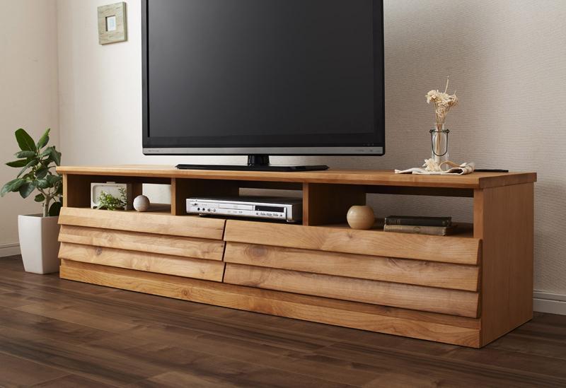【送料無料】アルダー無垢材 テレビボード 〔Findlay〕フィンドレー W165 天然木/テレビ台/TV台【代引不可】