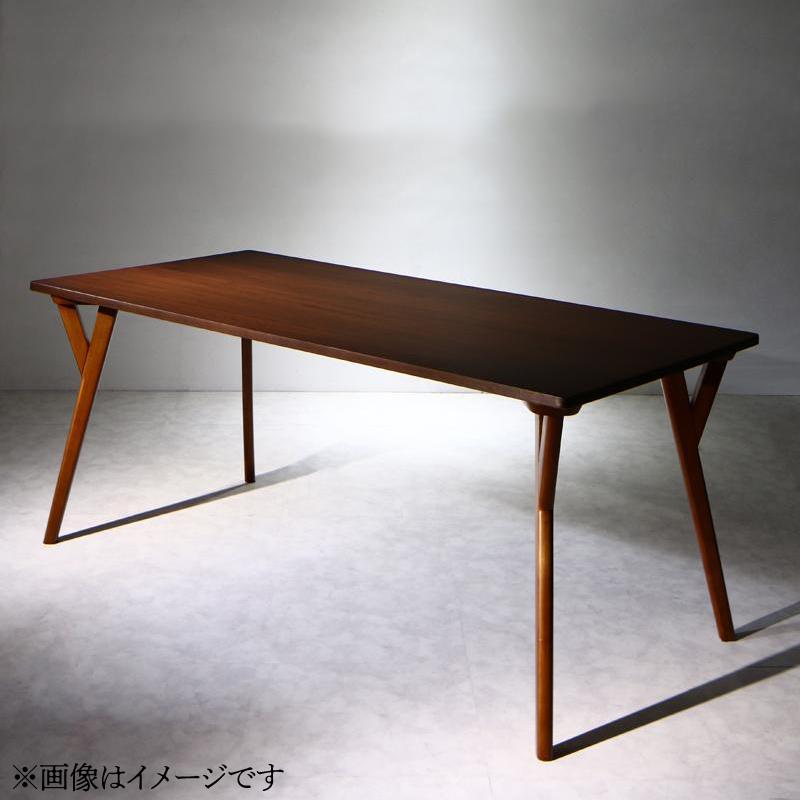 【送料無料】天然木ウォールナット材 モダンデザインダイニング 〔WAL〕ウォル ダイニングテーブル単品(W170)【代引不可】