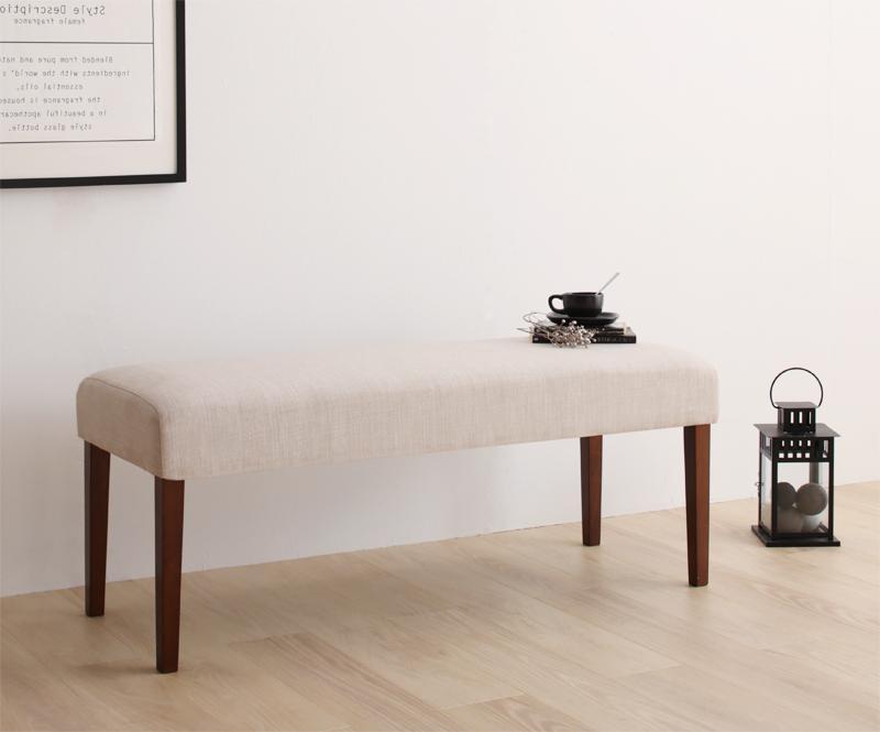 【送料無料】天然木 デザイン伸縮ダイニングシリーズ 〔Kante〕カンテ ベンチのみ 単品販売 ベージュ【代引不可】