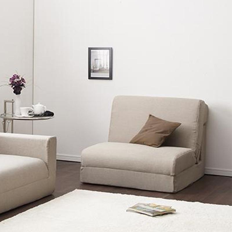 【送料無料】ポケットコイルで快適快眠ゆったり寝られるデザインソファベッド 〔Ceuta〕セウタ 幅80cm ベージュ【代引不可】