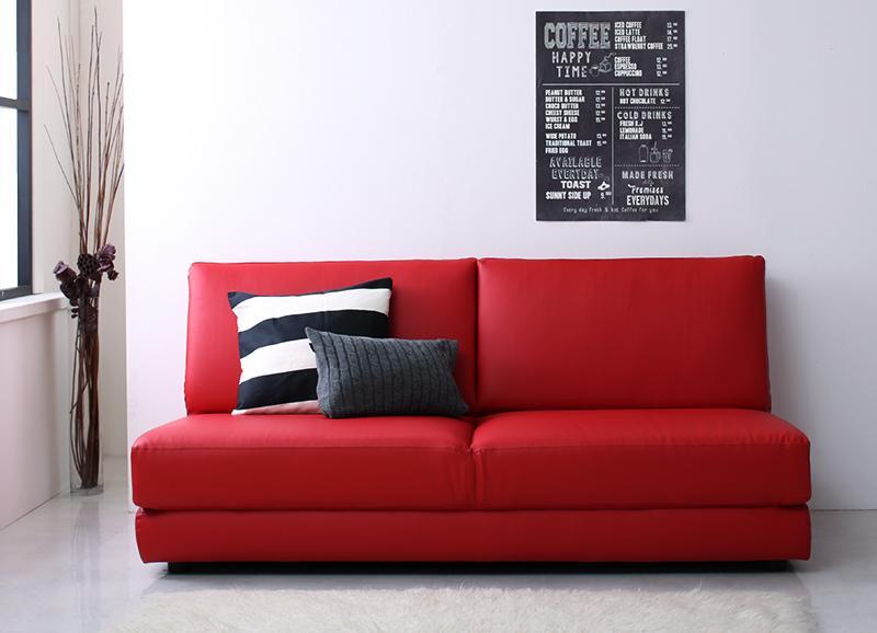 【送料無料】ふたり寝られる モダンデザインソファベッド 〔Nivelles〕ニヴェル 160cm ブラウン【代引不可】