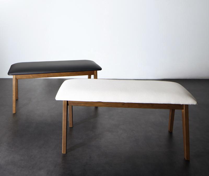【送料無料】モダンデザイン スライド伸縮テーブルダイニングシリーズ 〔Jamp〕ジャンプ ベンチのみ 単品販売 ホワイト【代引不可】
